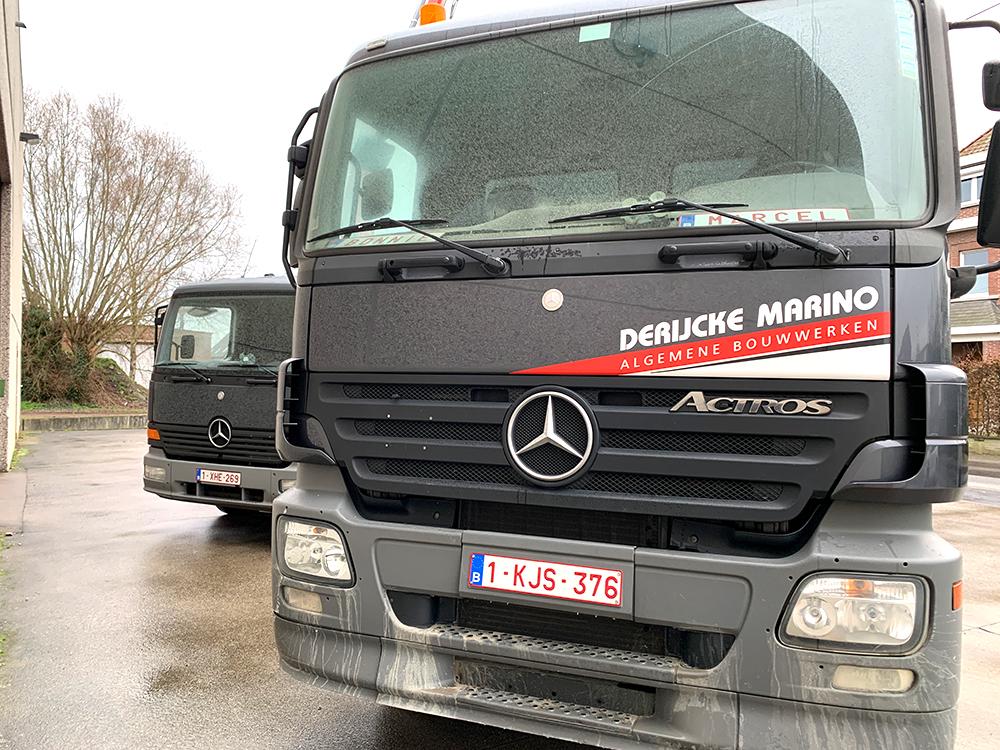 Algemene bouwwerken marino derijcke - vrachtwagens